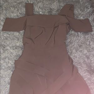 New York & Company Off the Shoulder Jumpsuit